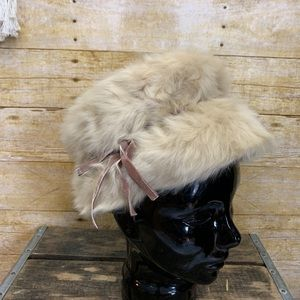 🌸Vintage Genuine Mousse Rabbit Fur Hat🌼